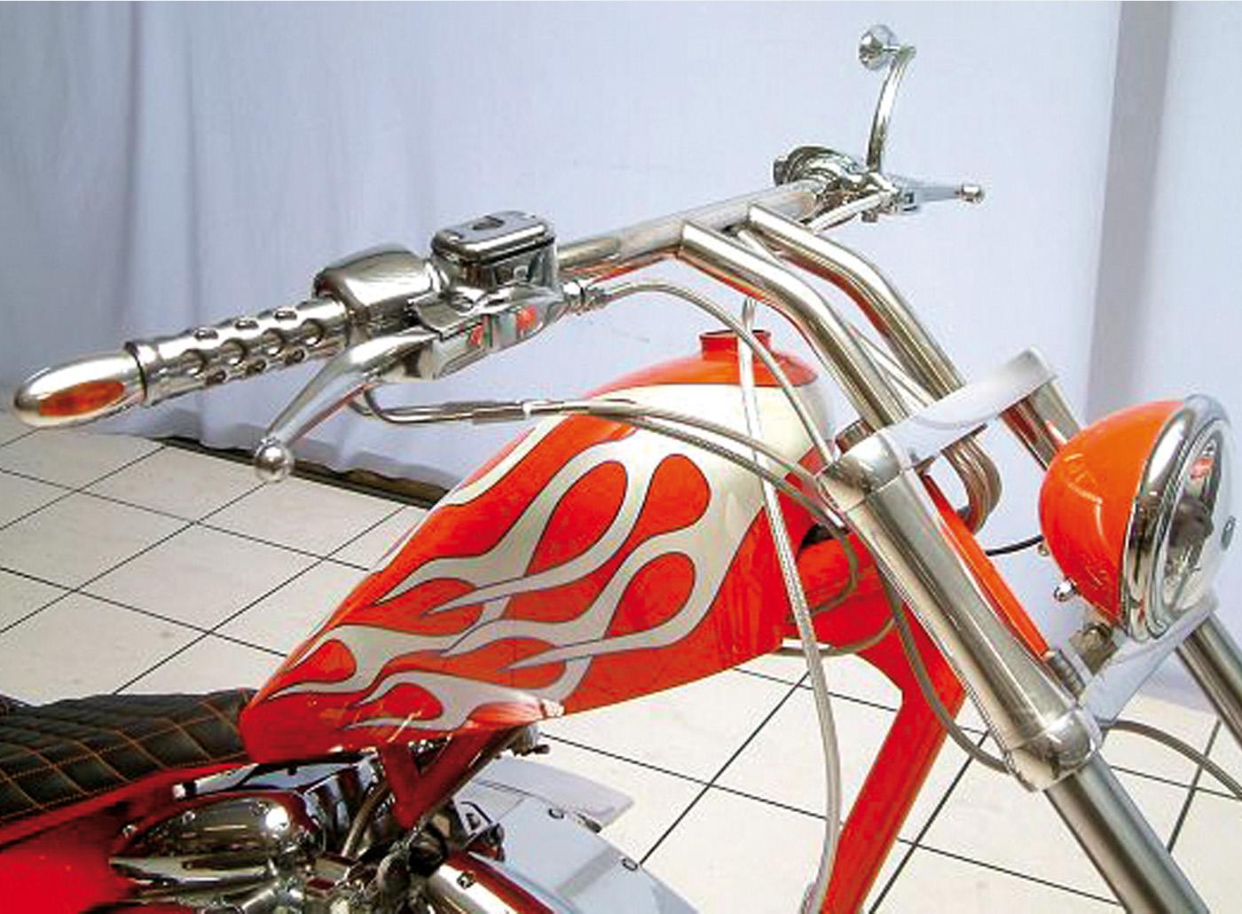 Wishbone Lenker 200 mm für Harleys