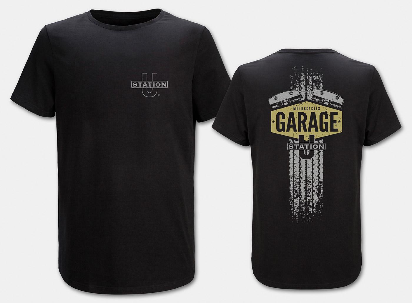Motorcycle-Garage T-Shirt, black